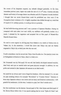 Yumio Nawa translated letter Page 2