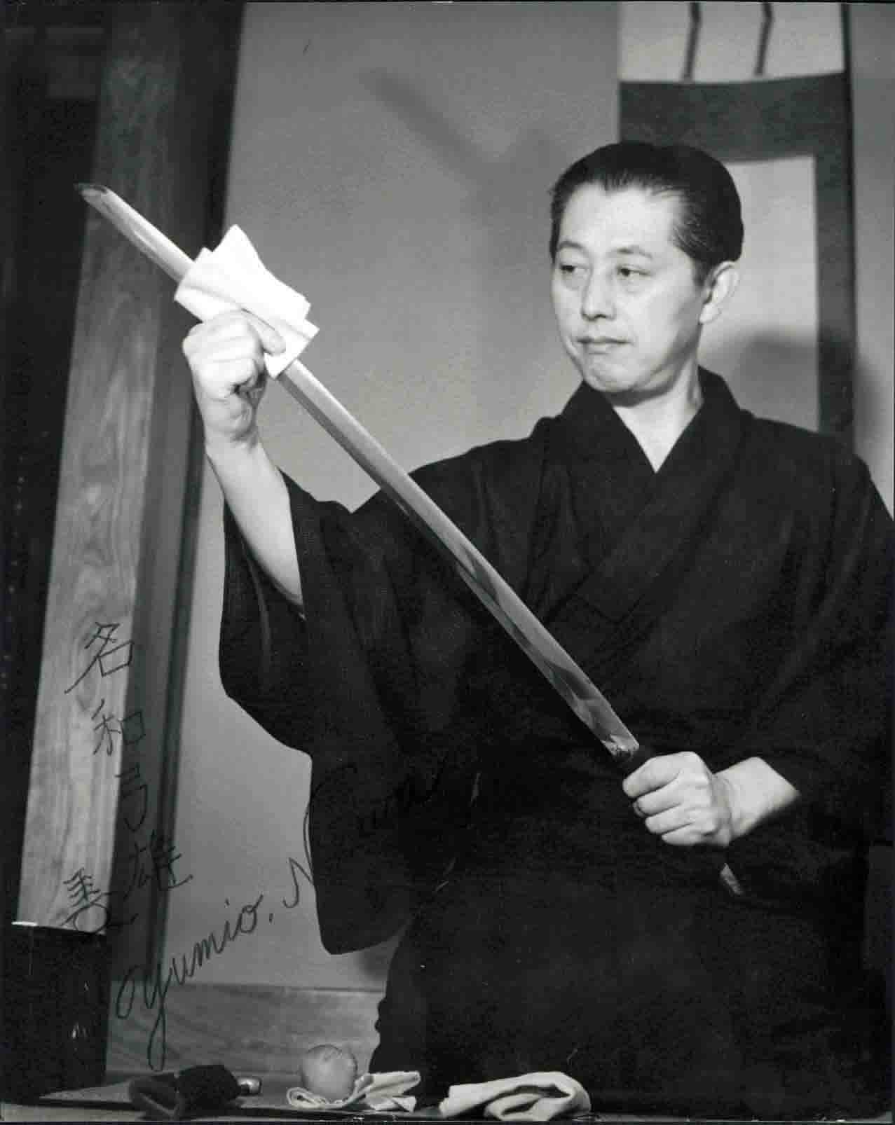 Headmaster Yumio Nawa of the Masaki Ryu